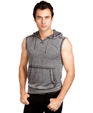 Marc Ecko Cut  Sew TShirt Burned Out Hooded Tank Top