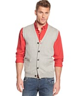 Mens Button Down Sweater Vest