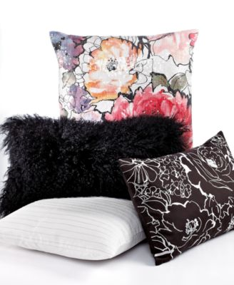 """INC International Concepts Bloom Shimmer 18"""" Square Decorative Pillow"""