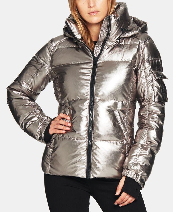 S13 - Kylie Metallic Hooded Puffer Coat