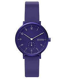 Skagen Aaren Kulor Aluminum Silicone Strap Watch 36mm