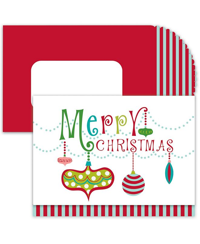 Masterpiece Cards Christmas Ornaments Holiday Boxed Cards, 16 Cards and 16 Envelopes