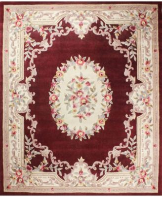 CLOSEOUT!  Palace Garden Aubusson Burgundy 5' x 8' Area Rug