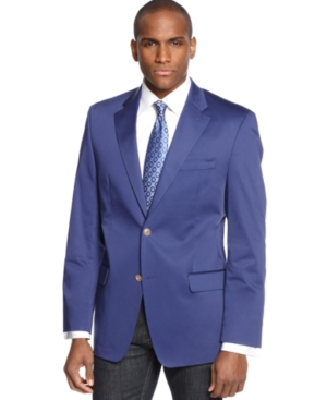 Sean John Jacket Solid Cotton Blazer