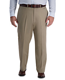 Haggar Men's Big & Tall Iron Free Premium Khaki Classic-Fit Flat Front Pant