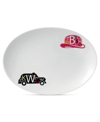 Royal Doulton Serveware, Pop In For Drinks Oval Platter