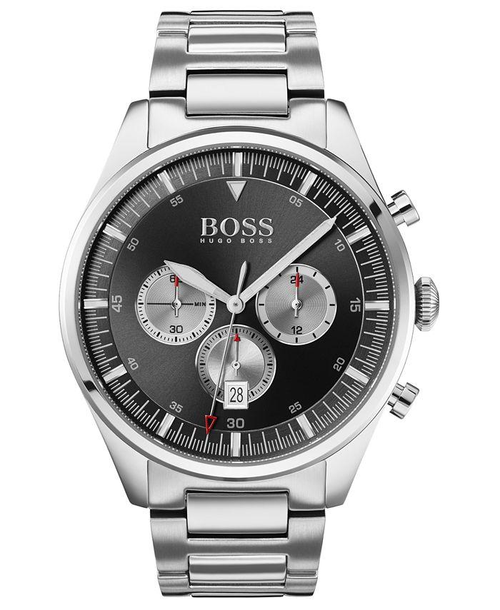 BOSS - Men's Chronograph Pioneer Stainless Steel Bracelet Watch 44mm