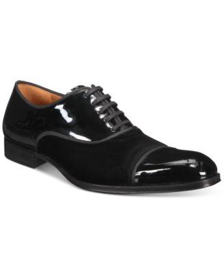 Mezlan Men's Patent Velvet Oxford Shoes