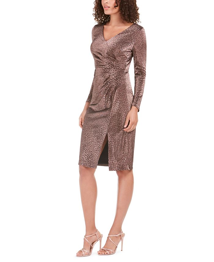 Vince Camuto - Metallic Animal-Print Stretch Dress