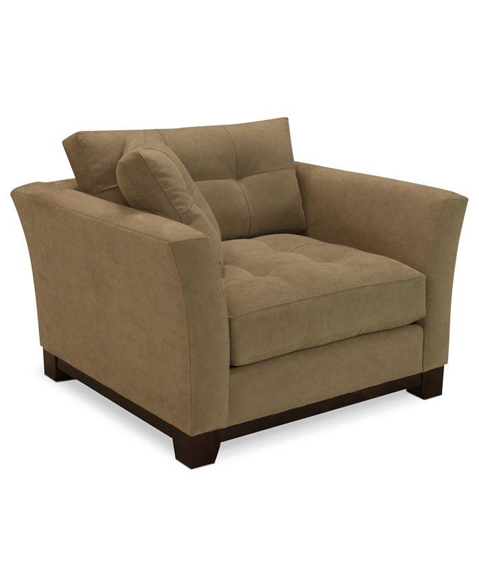 "Furniture - Fabric Living Room Chair, 45""W x 41""D x 26""H: Custom Colors"