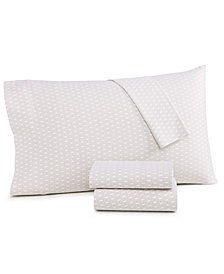 CLOSEOUT! Charter Club Damask Designs Diamond Geo Cotton 550-Thread Count 2-Pc. Standard Pillowcase, Created for Macy's