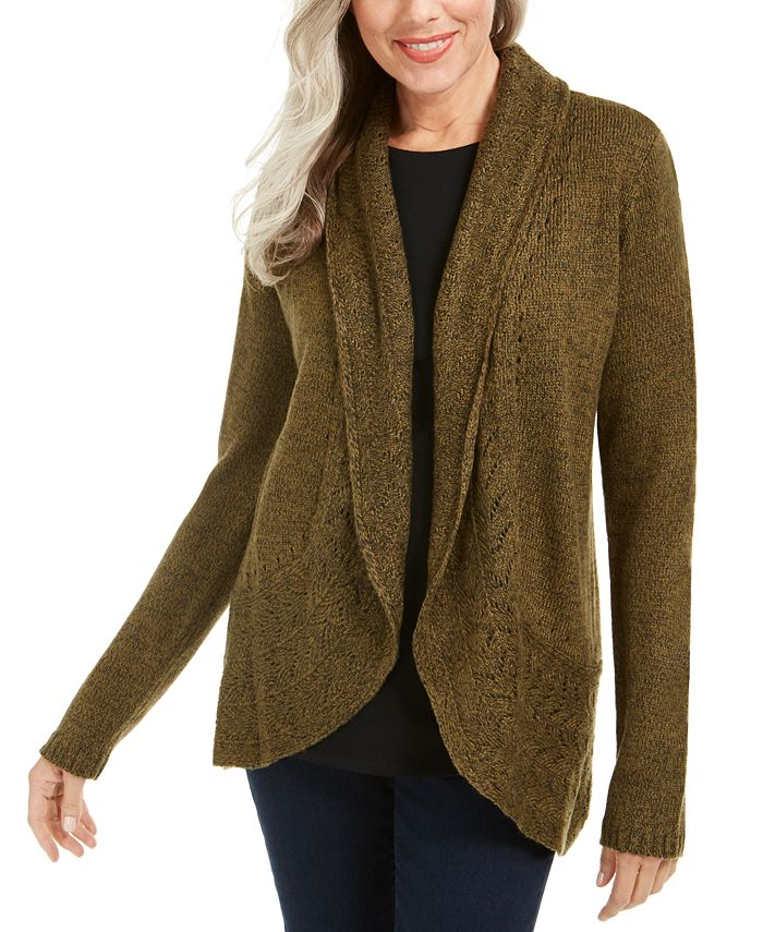 Karen Scott - Shawl-Collar Cardigan
