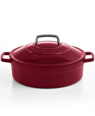 Martha Stewart Collection Collector's Enameled Cast Iron 5 Qt. Braiser