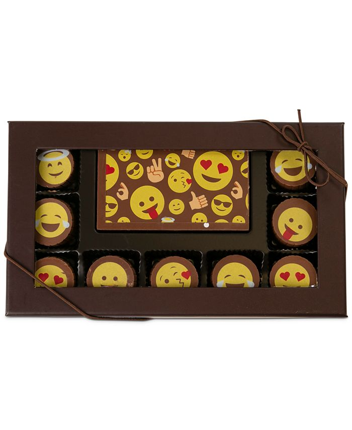 Chocolate Works - 10-Pc. Emoji Gourmet Chocolate Truffles