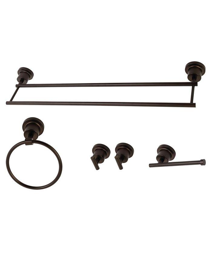 Kingston Brass - Concord Dual-Towel Bar 5-Pc. Bathroom Accessory Set in Oil Rubbed Bronze