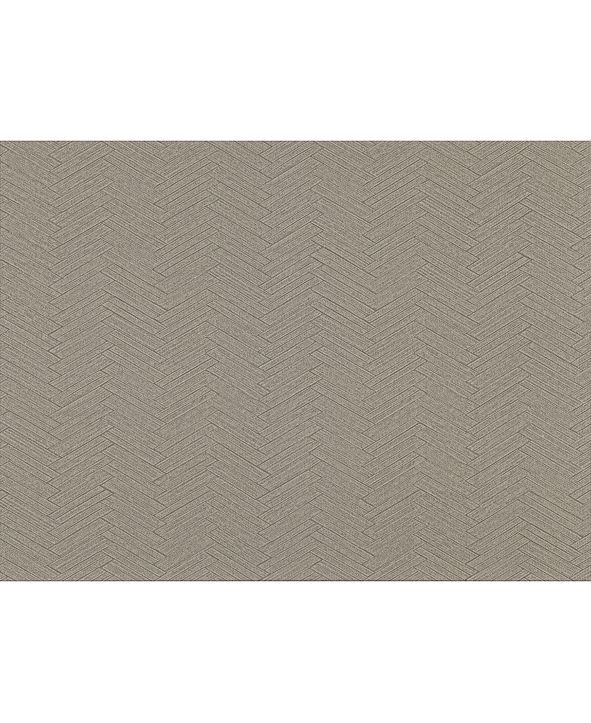"Warner Textures 27"" x 324"" Karma Herringhone Weave Wallpaper"
