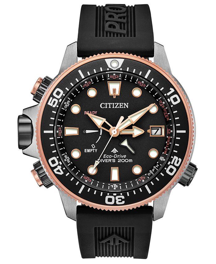 Citizen - Men's Promaster Aqualand Black Polyurethane Strap Watch 46mm