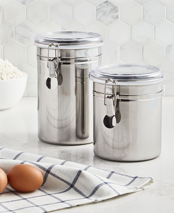 Martha Stewart Collection Set of 2 Food Storage Canisters, Created for Macy's