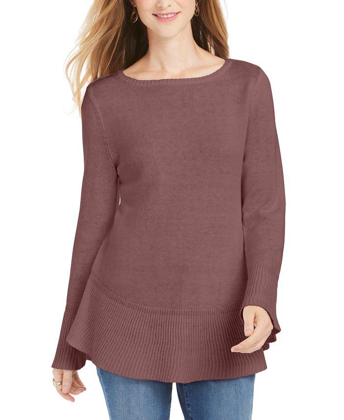 Style & Co - Ruffle Hem Knit Sweater