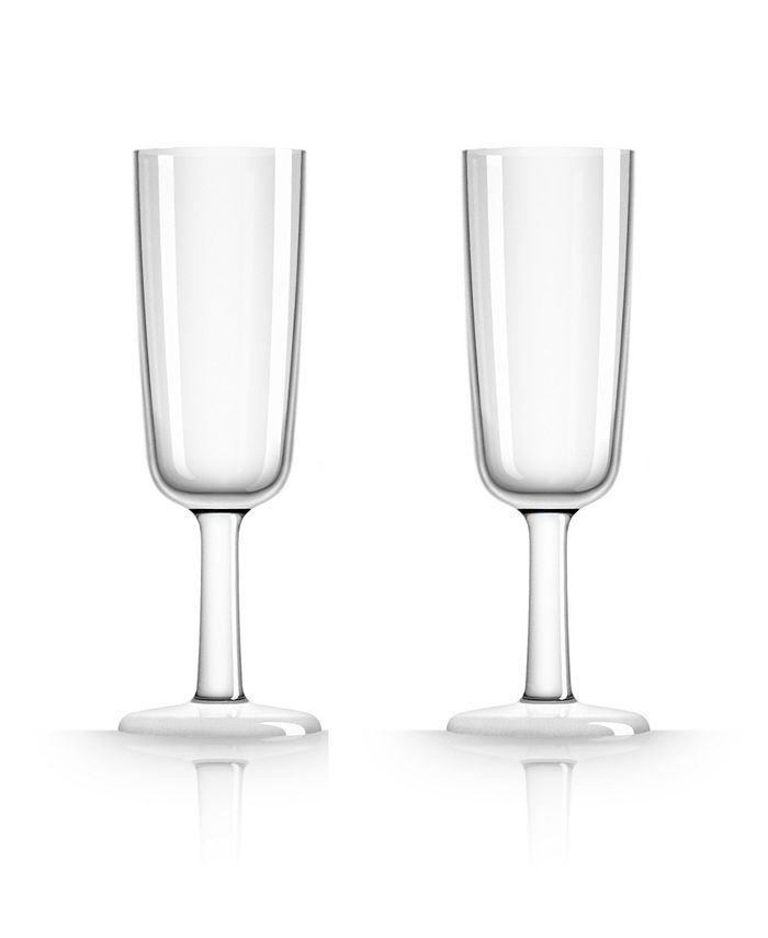 Marc Newson - Flute Glass with white non-slip base, Set of 2