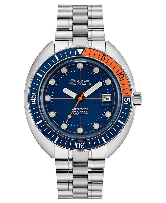 Bulova - Men's Automatic Archive Devil Diver Stainless Steel Bracelet Watch 44mm