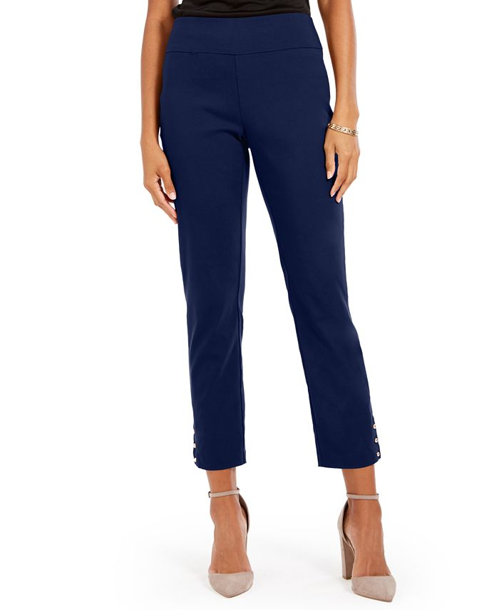 NY Collection - Petite Straight Leg Pull-On Pants