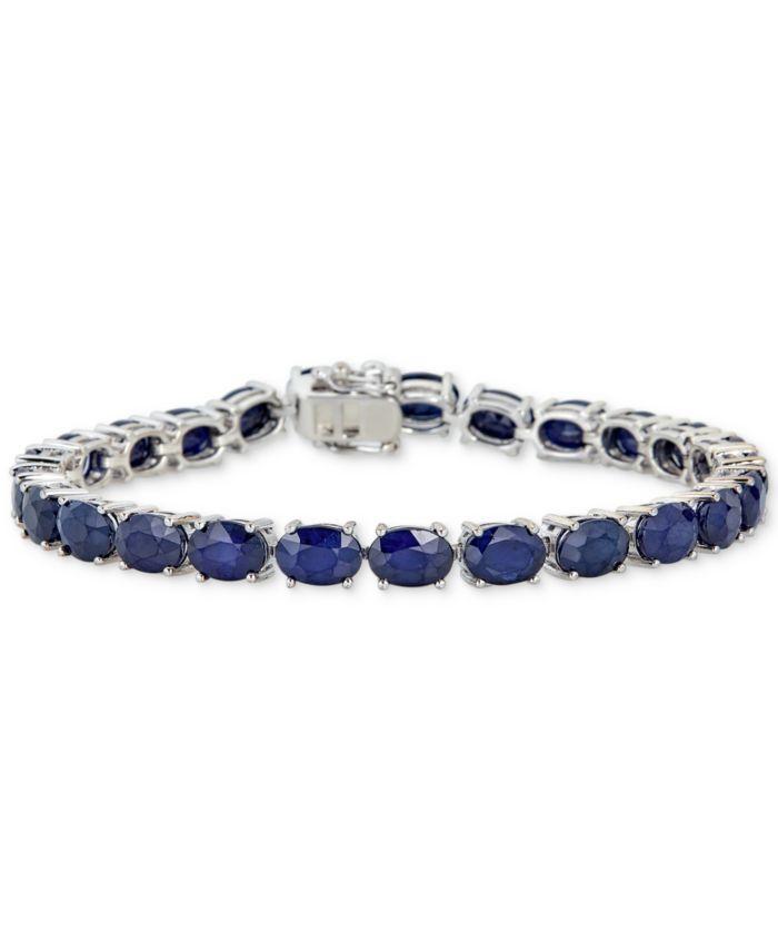 Macy's Sapphire Tennis Bracelet (25 ct. t.w.) in Sterling Silver & Reviews - Bracelets - Jewelry & Watches - Macy's
