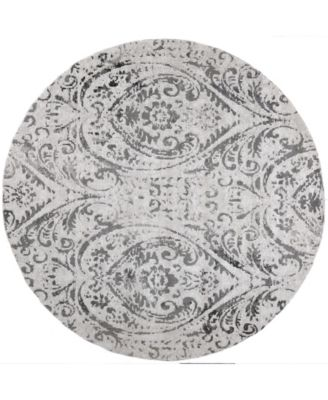 "Patio Sofia Juniper Ivory 7'10"" Round Area Rug"