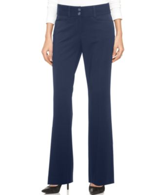 womens navy blue pants - Pi Pants