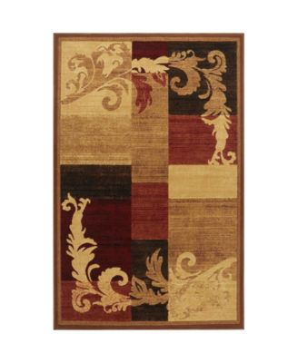 "Yorba YOR06 Brown 5'3"" x 7'2"" Area Rug"
