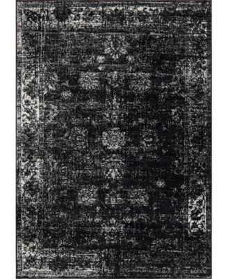 Basha Bas1 Black 8' x 8' Square Area Rug