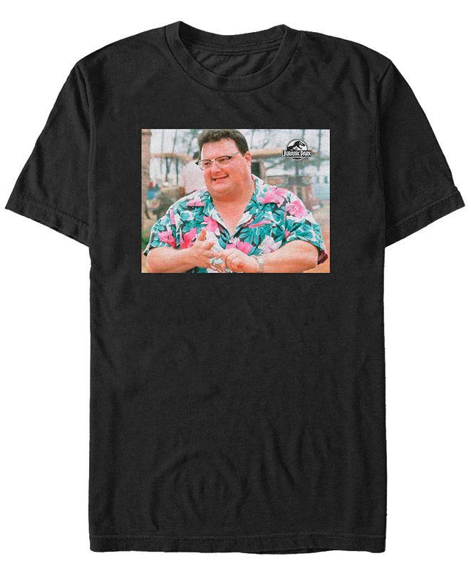 Jurassic Park Men's Nedry Portrait Short Sleeve T-Shirt