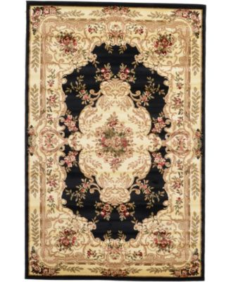 Belvoir Blv5 Black 9' x 12' Area Rug