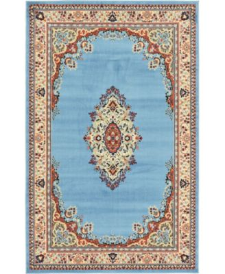 Birsu Bir1 Light Blue 8' x 8' Round Area Rug