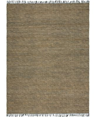 Braided Tones Brt3 Natural/Black 5' x 8' Area Rug
