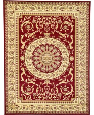 Belvoir Blv2 Red 5' x 8' Area Rug
