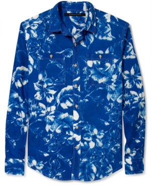 Sean John Shirt Rain Forest Print Long Sleeve Shirt