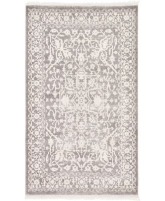 Norston Nor1 Gray 8' x 8' Round Area Rug