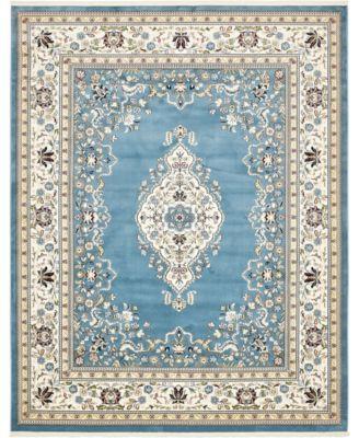 Zara Zar1 Blue 3' x 5' Area Rug
