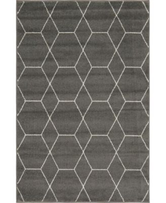 Plexity Plx1 Dark Gray 5' x 8' Area Rug