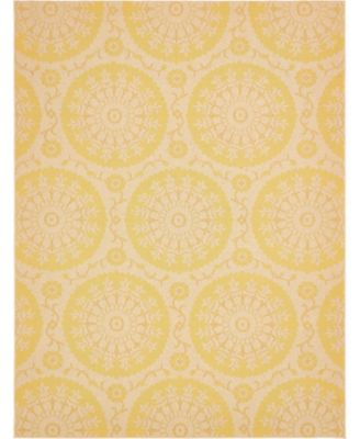 Pashio Pas5 Yellow 4' x 6' Area Rug