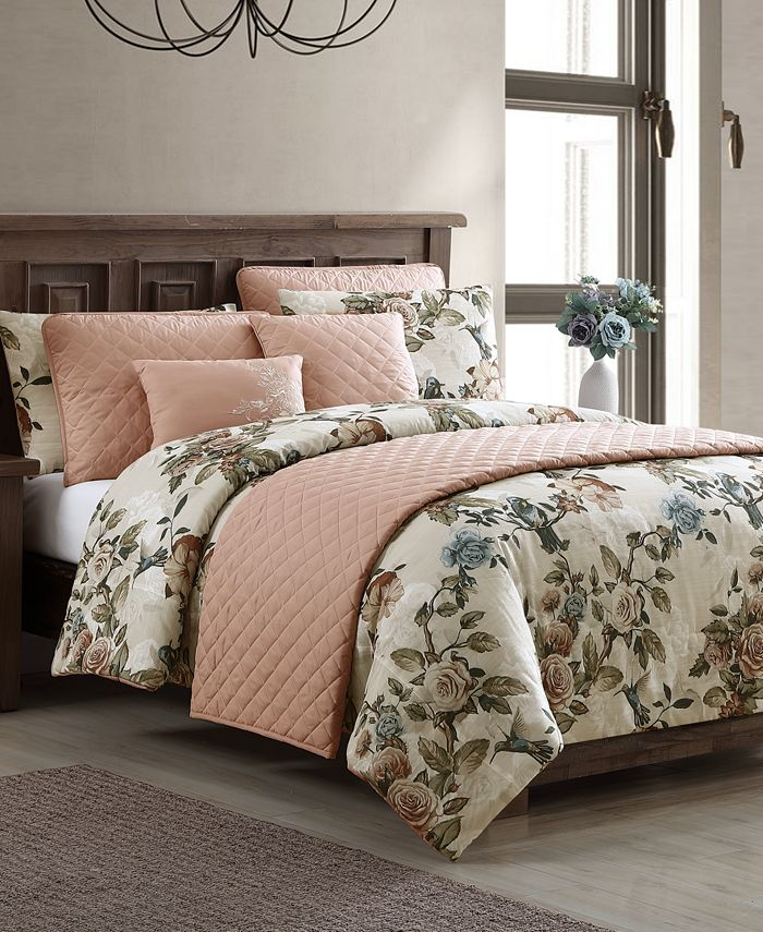 Hallmart Collectibles - Lillith 8-Pc. King Comforter and Quilt Set