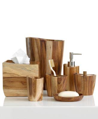 CLOSEOUT! Kassatex Bath Accessories, Acacia Soap Dish