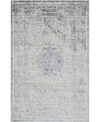 Aitana Ait1 Gray 4' x 6' Area Rug