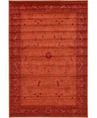 Aldrose Ald4 Orange 6' x 9' Area Rug