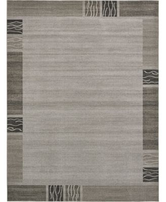 Lyon Lyo1 Light Gray 8' x 8' Square Area Rug