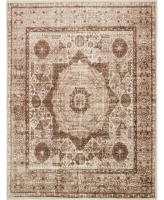 Linport Lin7 Brown 10' x 13' Area Rug