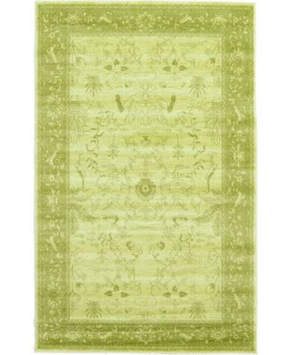 Aldrose Ald4 Light Green 4' x 6' Area Rug