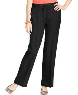 Black Linen Pants For Women