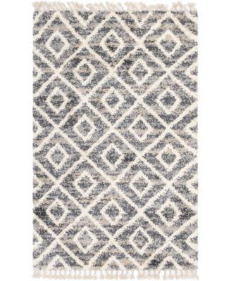 Lochcort Shag Loc2 Gray 5' x 8' Area Rug
